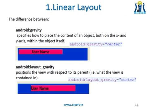 android layout weight property android screen containers layouts
