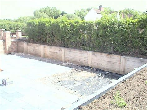 Retaining Wall Railway Sleepers by Oak Railway Sleeper Retaining Walls