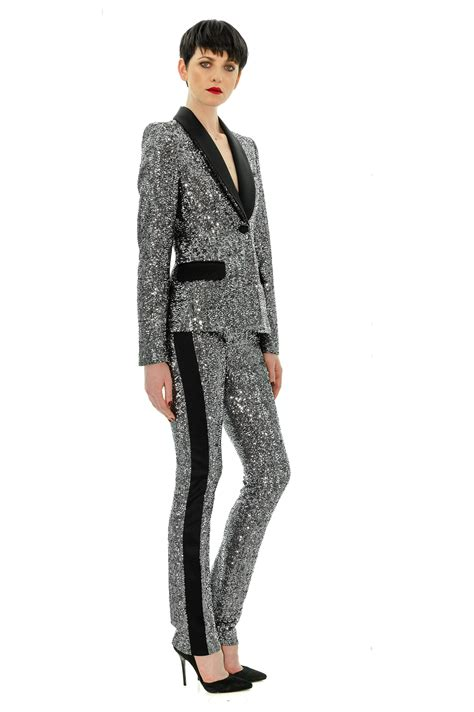 Raket Lining 3d Breakfree 80 Ex Silver tuxedo pant for stefanie renoma
