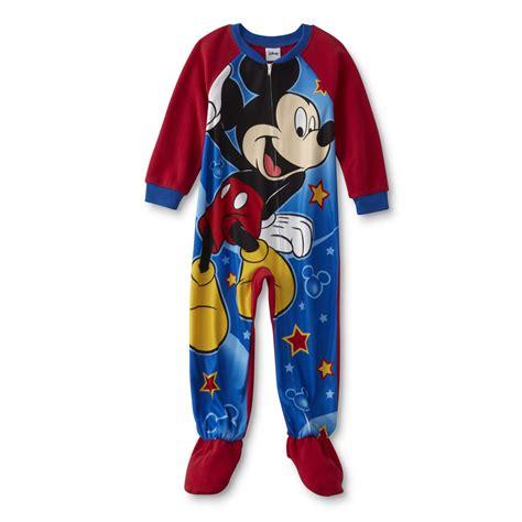 Pajamas Mickey disney mickey mouse toddler boy s sleeper pajamas