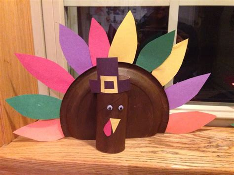 Paper Plate Turkey Crafts - paper plate turkey craft thanksgiving craft s for kid s