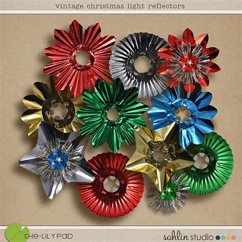 new vintage christmas light reflectors sahlin studio