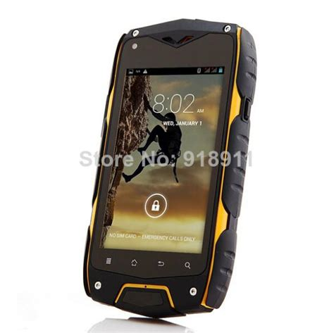 Android Ram 512 4 0 screen smartphone jeep z6 android phone ip68 mtk6572