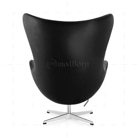 Leather Egg Chair Replica by Arne Jacobsen Style Egg Chair Black Leather Replica