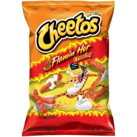 does flamin hot funyuns have pork cheetos flamin hot crunchy 226g
