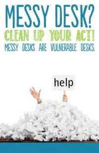 Clean Desk Policy Poster by 21 Best Images About Clean Desk Caign On