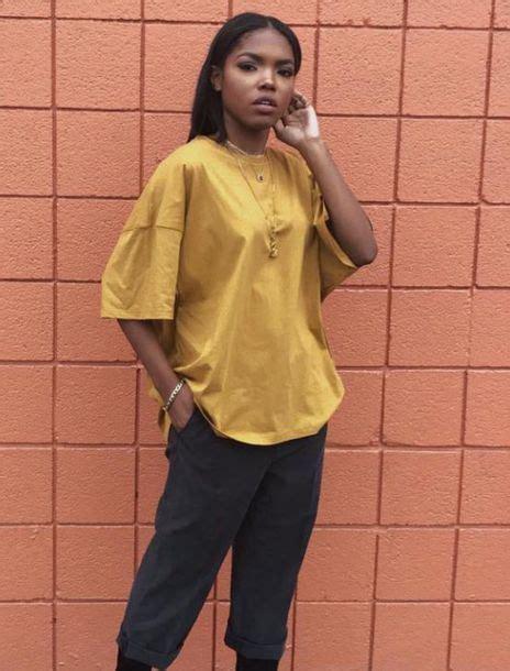 Stylish Oversized Shirts by Shirt Yellow T Shirt T Shirt Dress Vintage Style