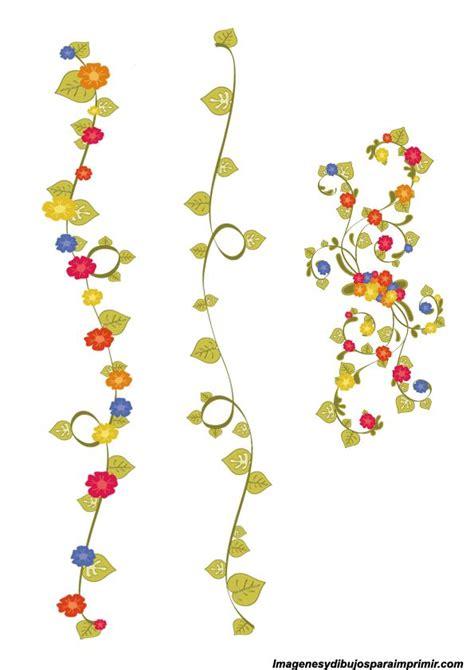 cenefas para word bordes de flores para decorar bordes