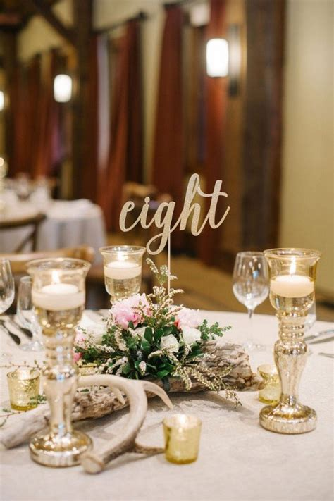 inspiring wedding table number ideas  love page