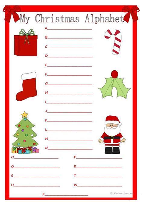 printable christmas resources my christmas alphabet worksheet free esl printable