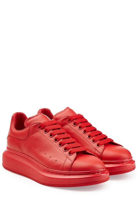 mcqueen mens sneakers mcqueen leather sneakers in for lyst