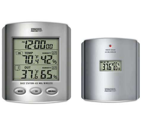 wireless indoor outdoor thermometer temperature humidity weather station ebay