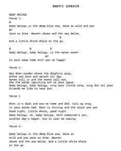 printable lyrics baby beluga baby beluga ukulele chords by raffi ultimate guitar com