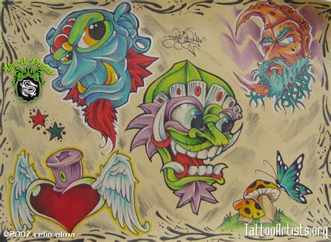 new school tattoo flash art new school tattoo artists org