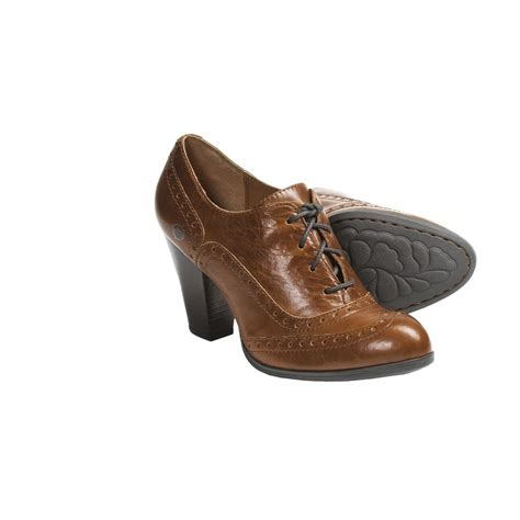 oxford high heels shoes born waverly high heel oxford shoes leather for