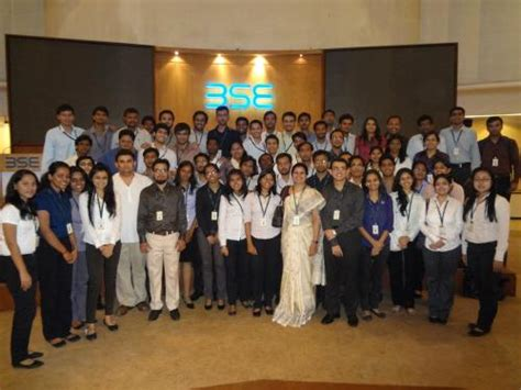 Bse Mba College by Industrial Visit To The Bombay Stock Exchange 171 At
