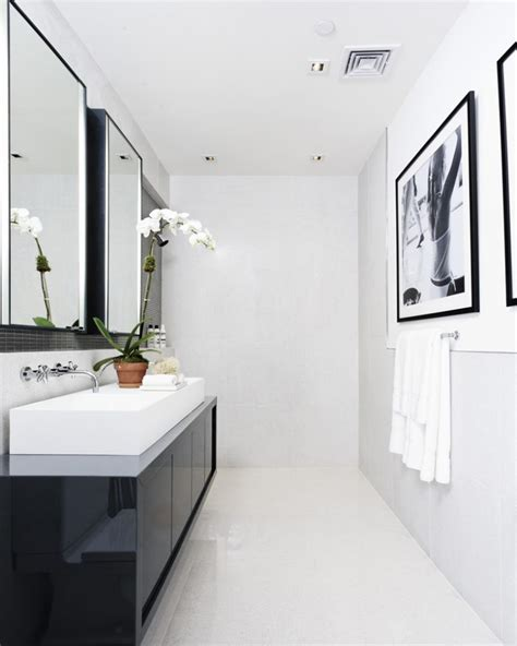 Modern Bathroom White 71 Cool Black And White Bathroom Design Ideas Digsdigs