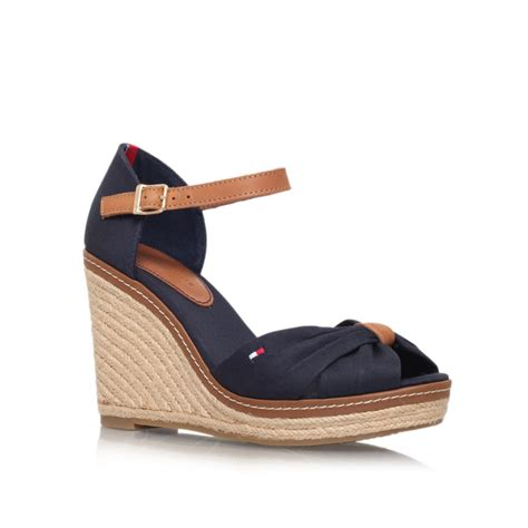 Hilfiger Wedges by Hilfiger Emery 54d High Wedge Heel Sandals In Blue