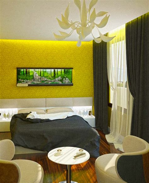 Yellow Walls In Bedroom by Curtain Yellow Wall Decorate The House With Beautiful