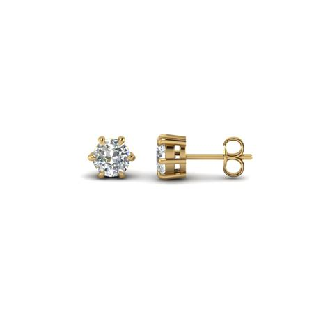 In Stud Earrings cut stud earrings in 14k yellow gold