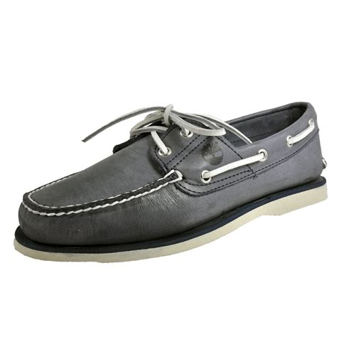 timberland classic 2 eye leather mens boat shoes moccasins