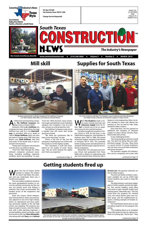 south texas construction news march   construction