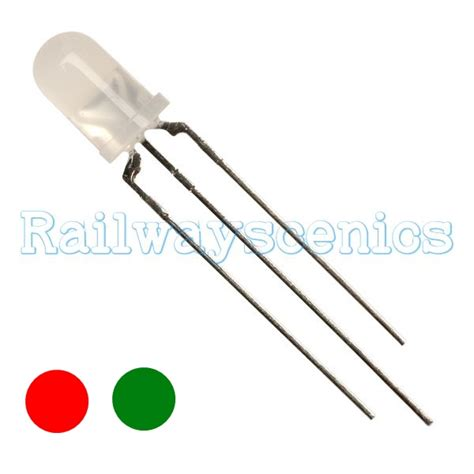 tri color led 3mm tri colour green led resistor required