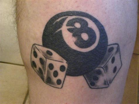 8 ball tattoo dice images designs