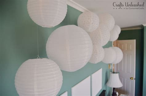 A Paper Lantern - create a whimsical wall installation with paper lanterns