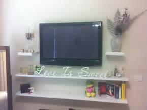 floating shelves for tv 17 best ideas about wall mounted tv on pinterest mounted