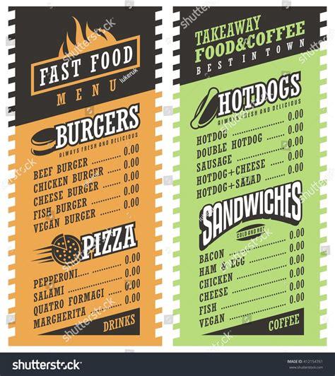 simple food restaurant menu template postermywall