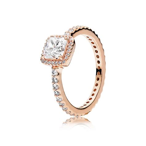 Timeless Elegance Ring, PANDORA Rose? & Clear CZ   PANDORA J