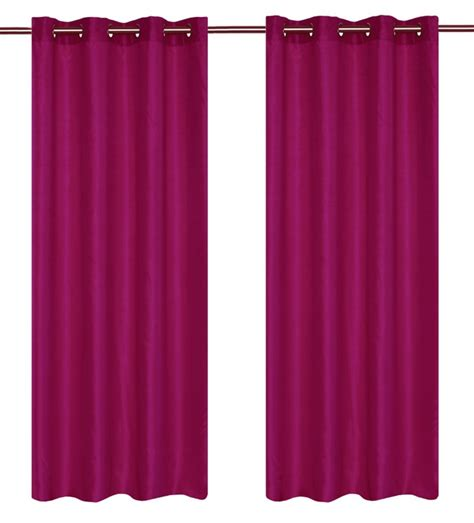 magenta curtains lj home fashions silkana faux silk 56x88 inch grommet 2