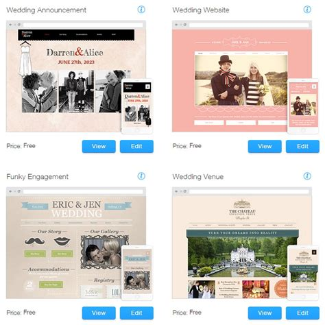 wix website templates for weddings events premium