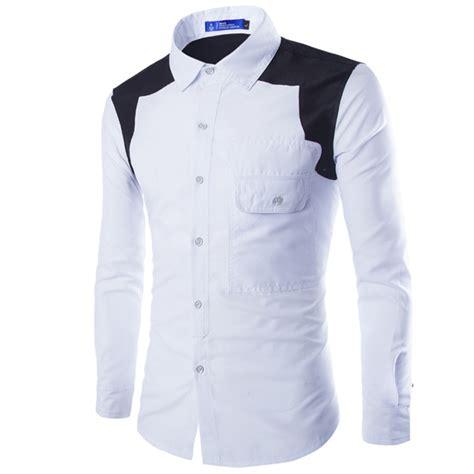design your dress shirt brand white men shirt long sleeve chemise homme 2016