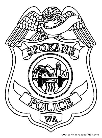 policeman badge coloring page coloring pages
