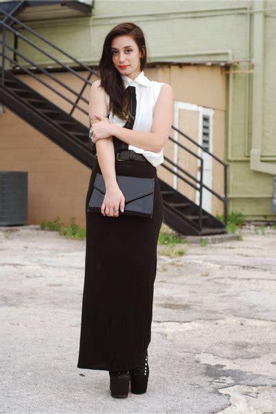 black hellbound unif boots black maxi skirt skirts