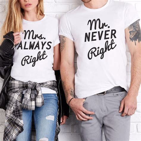 Mr Right And Mrs Always Right Aj Kaos Tshirt Distro mr and mrs t shirts set mr and mrs shirts set