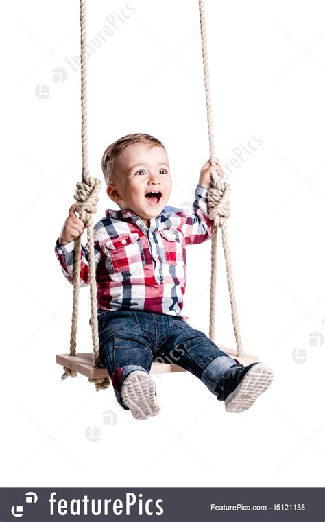 baby on a swing baby boy on a swing picture