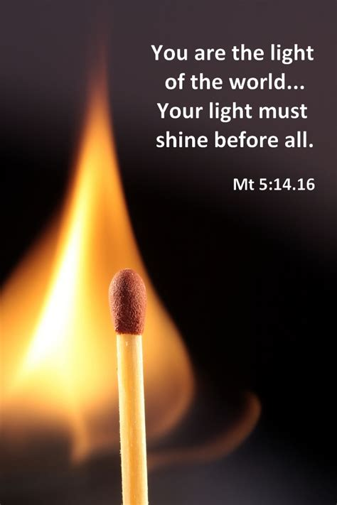 To The Light Of The World by Matthew 5 14 16 Poster You Are The Light Of The World