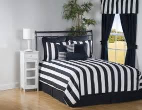 4pc black white modern sleek striped comforter set cal king ebay