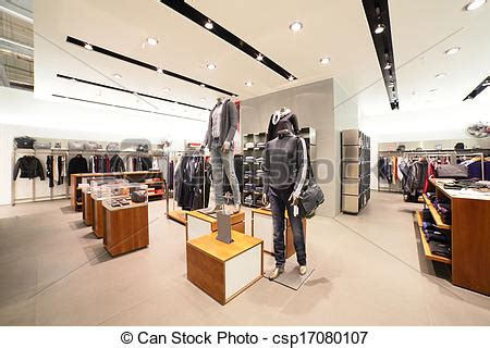 stock photography of european clothing store with