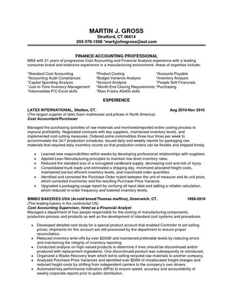 finance resume objective statements financial analyst resume exles entry level financial
