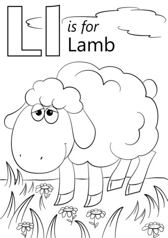 Ll Cool J Coloring Page by Letter L Is For Coloring Page Free Printable
