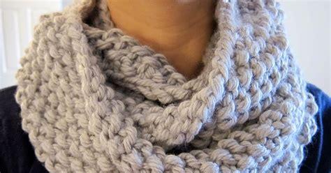 nu knit purllin december seed stitch infinity circle scarf free