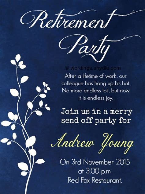 nice retirement party invitation wording invitations