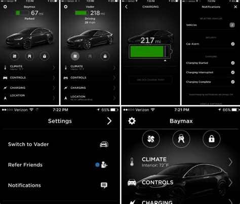 Tesla Mobile Tesla Refreshes Mobile App With Modern Ui Touch Id And