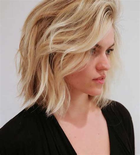 fine blonde bush unique layered bob hairstyles for a different look short
