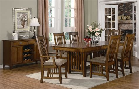 medium oak finish casual dining table woptional chairs