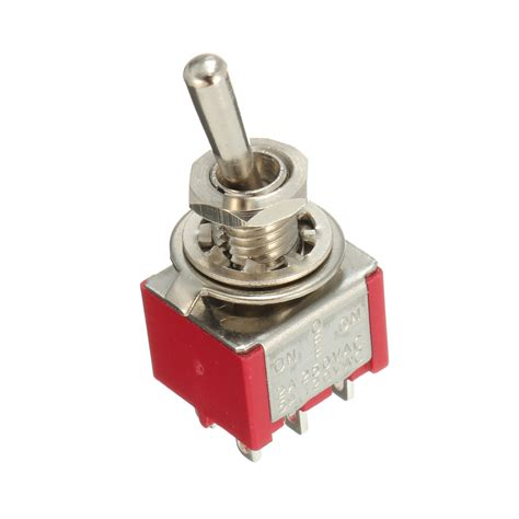 Promo Switch Lu On 3 Pin Rocker Switch Lu 3 Pin Kecil interruttore a scorrimento rosso 5pcs dpdt on on 6 pin 3 posizione 5a 120vac 2a 250vac